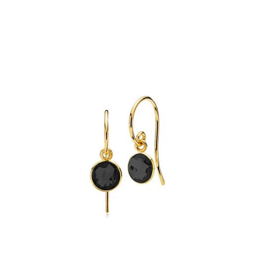 Prima Donna øreringe i guld med sort onyx fra Izabel Camille