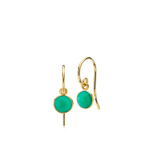 Prima Donna øreringe i guld med grøn onyx fra Izabel Camille
