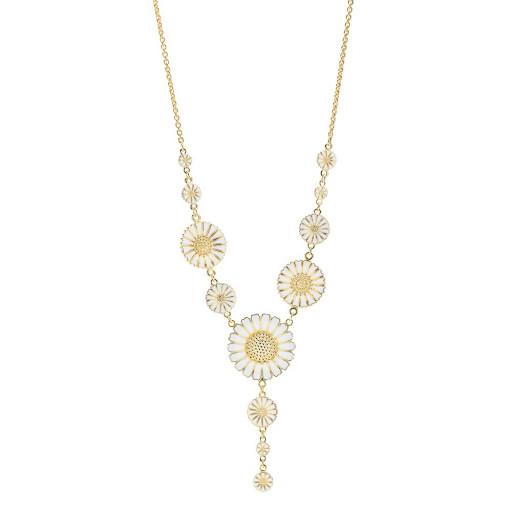 Marguerit halskæde i guld fra Lund Copenhagen