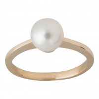 14kt guld ring med perle fra Nordahl Andersen
