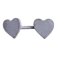 Hjerteørestik i blank oxideret sølv fra Nordahl Jewellery