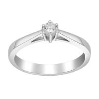 Afrodite 14K. hvidguldsring med 0,15CT diamant fra Siersbøl