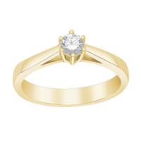 Afrodite 14K. guldring med 0,25CT diamant fra Siersbøl