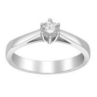 Afrodite 14K. hvidguldsring med 0,25CT diamant fra Siersbøl