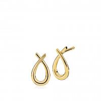 Attitude small øreringe i guld fra Izabel Camille