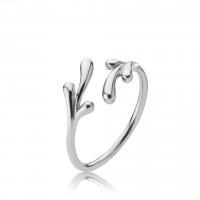 Embrace ring i sølv med bladmotiv fra Izabel Camille