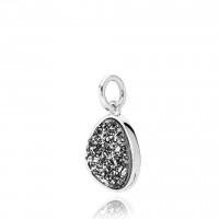Mystery vedhæng i sølv med dryzy sten fra Izabel Camille.