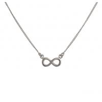 Halskæde med uendelighedstegn i sølv fra Nordahl Jewellery