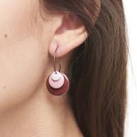Drops øreringe i sølv og emalje fra Enamel