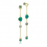 Orient lange øreringe i guld fra Izabel Camille.