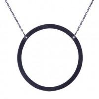 Halskæde I Oxideret Sølv Fra Nordahl Jewelry