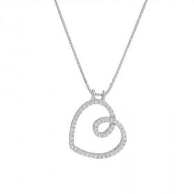 Halskæde i sølv med et hjerte vedhæng fra Joanli Nor