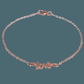 Love Chain armbånd i rosa guld fra JewlsCPH