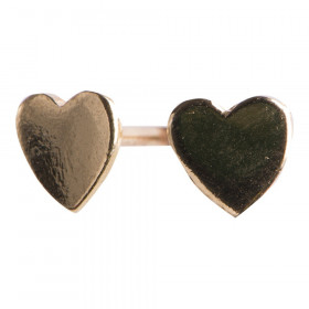 Hjerteørestik i blank forgyldt sølv fra Nordahl Jewellery