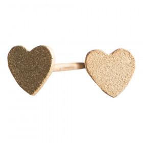 Hjerteørestik i mat forgyldt sølv fra Nordahl Jewellery