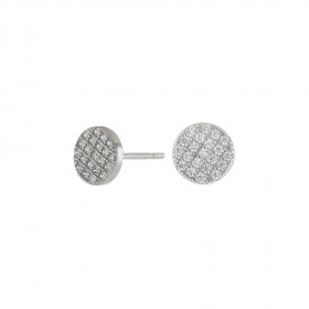 Medium runde øreringe i sølv fra Joanli Nor