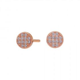 Runde øreringe i rosa guld fra Joanli Nor
