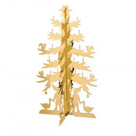 H.C. Andersen grantræ mellem 15cm i messing forgyldt fra Nordahl Andersen