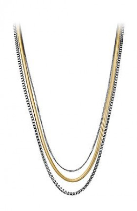 Lisani halskæde i stål forgyldt fra Dyrberg/Kern