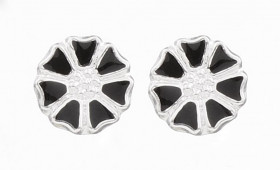 Marguerit øreringe i sølv fra Lund Copenhagen