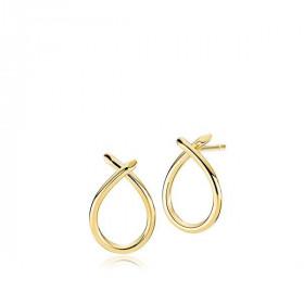 Everyday small øreringe i blankt guld fra Izabel Camille