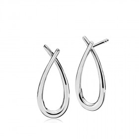Attitude medium øreringe i sølv fra Izabel Camille