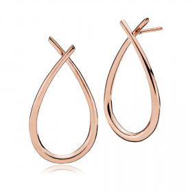 Attitude large øreringe i rosa guld fra Izabel Camille
