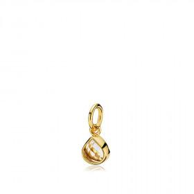 Tiny drop vedhæng i guld med en hvid topas dråbe fra Izabel Camille