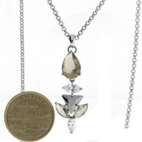 Balsamine halskæde i sølv med zirkoner fra Dyrberg/Kern