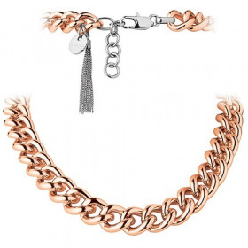 Fundrina halskæde i stål rosa forgyldt fra Dyrberg/Kern