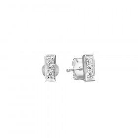 Rough Diamond øreringe i sølv fra Enamel