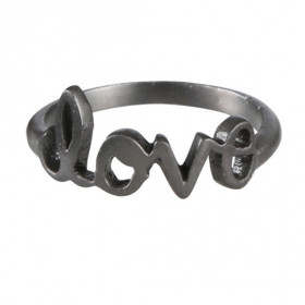 Love ring i sølv sort rhodineret fra JewlsCPH