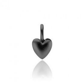 Soulheart vedhæng i sølv sort rhodineret fra Izabel Camille